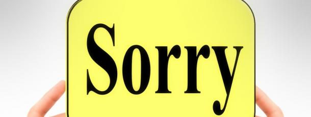 """Sorry"": The Hardest Word?"